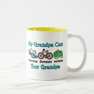 Grandpa Outswim Outbike Outrun Triathlon Mug