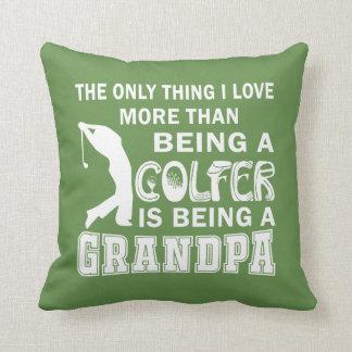 Grandpa Over Golf Throw Pillow