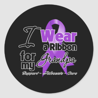 Grandpa - Pancreatic Cancer Ribbon Classic Round Sticker