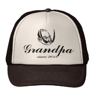 Grandpa Papa funny daddy gift awesome dad new Trucker Hat