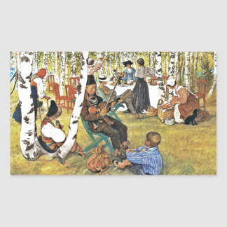 Grandpa Plays Hardanger Fiddle Rectangular Sticker