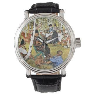 Grandpa Plays Hardanger Fiddle Wristwatches