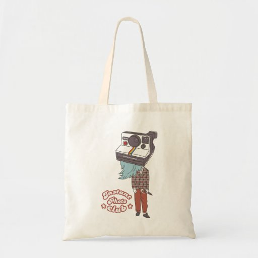 grandpa polaroid canvas bag