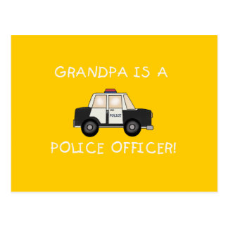 Grandpa Police Officer Tshirts and Gifts Postcard
