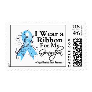 Grandpa Prostate Cancer Ribbon Postage Stamp