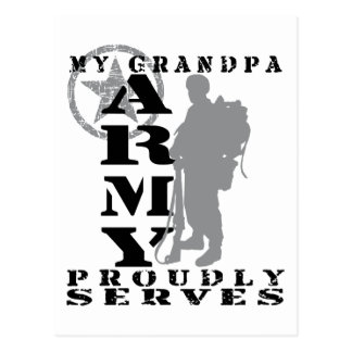 Grandpa Proudly Serves - ARMY Postcard