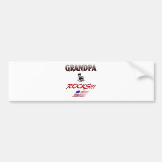 Grandpa Rocks Car Bumper Sticker