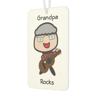 Grandpa Rocks Customizable Air Freshener