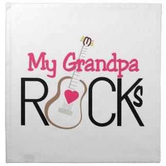 Grandpa Rocks Napkin