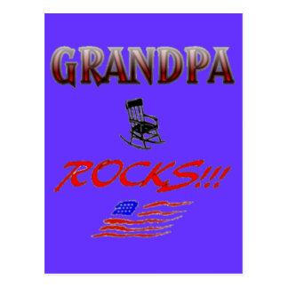 Grandpa Rocks Postcard