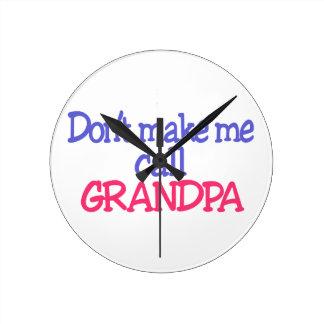 Grandpa Round Clock