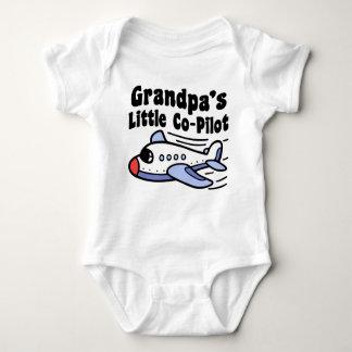 Grandpa's Little Co-Pilot Baby Bodysuit