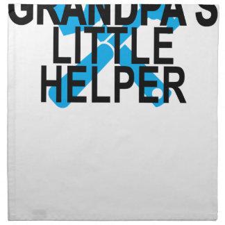 GRANDPA'S LITTLE HELPER . NAPKIN