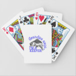 "Grandpa Says Bicycle Playing Cards<br><div class=""desc"">Got bite?  Get hooked to this relaxing hobby with this design on gear bags,  fleece pullovers,  T-shirts,  and more for that fishing enthusiast in your life.</div>"