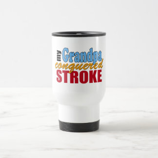 Grandpa Stroke Survivor 15 Oz Stainless Steel Travel Mug