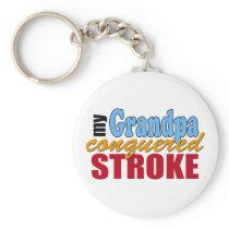 Grandpa Stroke Survivor Keychain
