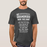 """Grandpa T-Shirt with Grandkids Names 2019<br><div class=""""desc"""">Grandpa t-shirt in 2019. Are you looking for a custom funny grandfather tee shirt that will fit all the grandkid's names? Well,  perhaps this bold font modern t-shirt with custom text may be the perfect gift.</div>"""