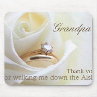 Grandpa   Thanks for Walking me down Aisle Mouse Pad