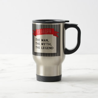 Grandpa – The Man, The Myth, The Legend 15 Oz Stainless Steel Travel Mug