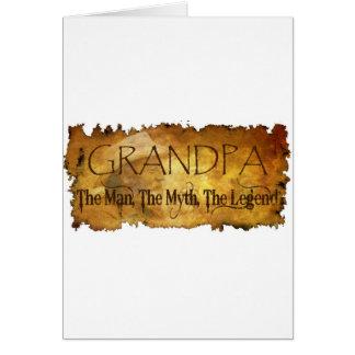 GRANDPA The Man The Myth the legend Cards