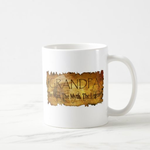 GRANDPA The Man The Myth the legend Classic White Coffee Mug