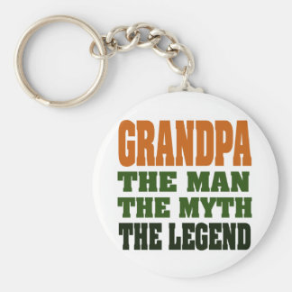 Grandpa - the Man, the Myth, the Legend! Keychain