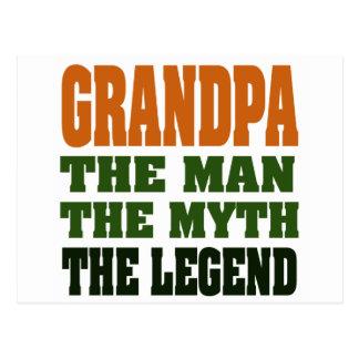 Grandpa - the Man, the Myth, the Legend! Postcard