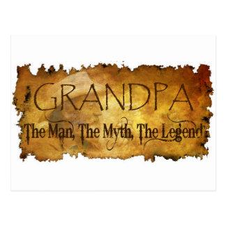 GRANDPA The Man The Myth the legend Postcard