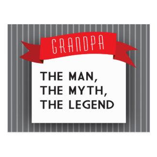Grandpa – The Man, The Myth, The Legend Postcard