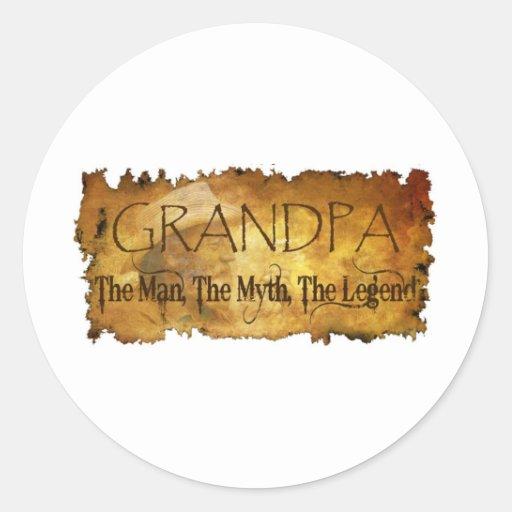 GRANDPA The Man The Myth the legend Classic Round Sticker