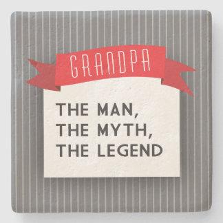 Grandpa – The Man, The Myth, The Legend Stone Coaster