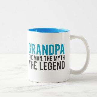 Grandpa, the Man, the Myth, the Legend Two-Tone Coffee Mug