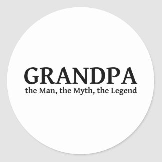Grandpa The Myth The Man The Legend Classic Round Sticker