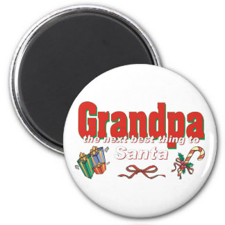 Grandpa, The Next Best Thing To Santa Magnets