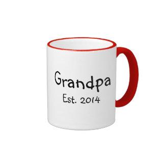Grandpa to be 2014 ringer mug