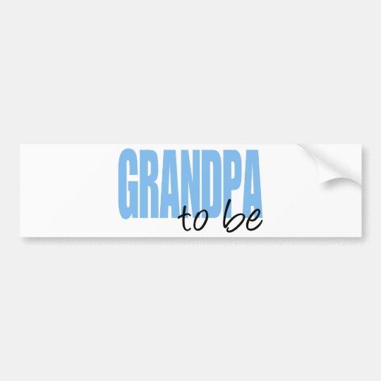 Grandpa To Be (Blue Block Font) Bumper Sticker