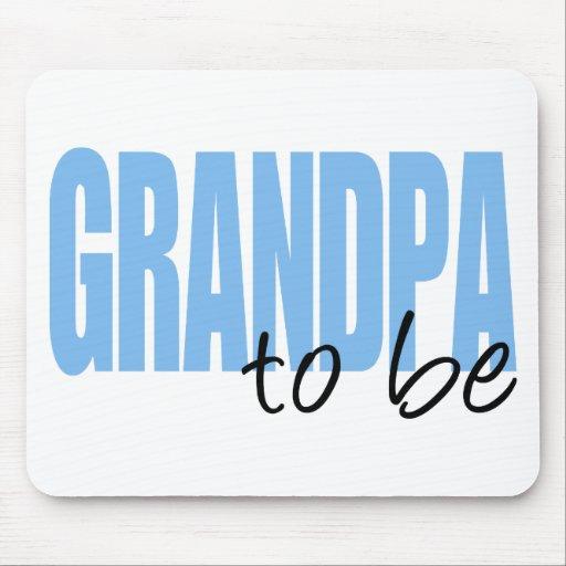 Grandpa To Be (Blue Block Font) Mouse Pad