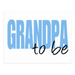 Grandpa To Be (Blue Block Font) Post Card