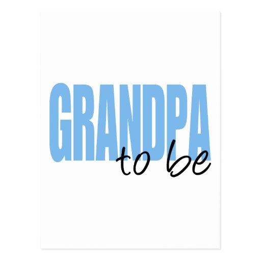 Grandpa To Be (Blue Block Font) Postcards