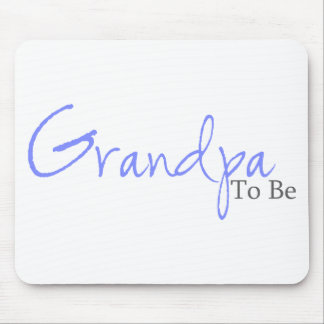 Grandpa To Be (Blue Script) Mouse Pad