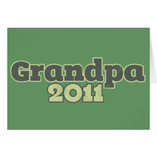 Grandpa to be in 2011 card