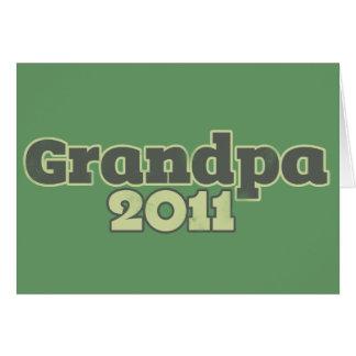 Grandpa to be in 2011 card