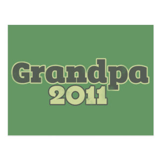 Grandpa to be in 2011 postcard