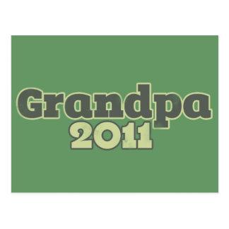 Grandpa to be in 2011 postcard