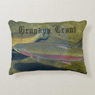 Grandpa Trout accent pillows Rainbow Trout pillow Accent Pillow