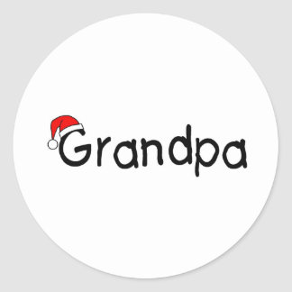 Grandpa With Santa Hat Stickers