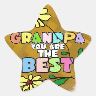 Grandpa you are the best. star sticker
