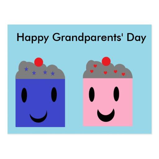 Grandparent Cupcakes Post Card
