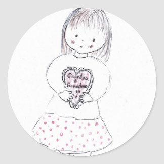 Grandparent Heart Sticker