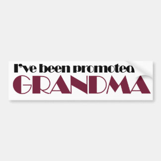 Grandparent humor for Grandma Bumper Sticker